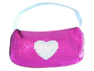 Sequin Heart Handbag