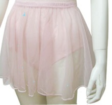 Nylon Ballet Skirt in Pale Pink - FINAL CLEARANCE. GRAB A BARGAIN CUTE SKIRTS-0