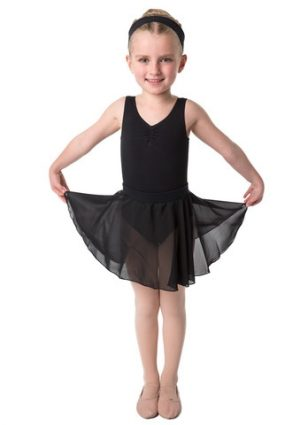 STUDIO RANGE Full circle chiffon ballet skirt in black-0
