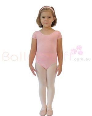 CLEARANCE Short Sleeve Dance Leotard - Pink Adult 6 & 8 -0