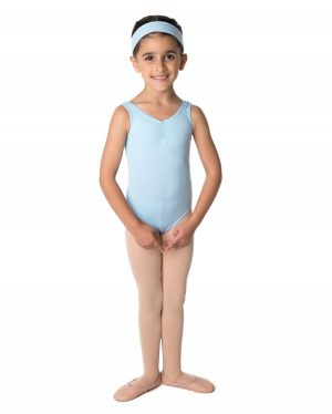 Pale Blue Gathered Front Leotard Sale Size 2-3 years CLEARANCE-0