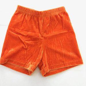 CLEARANCE Velvet Hot Shorts - Large 8-10 years - Orange-0