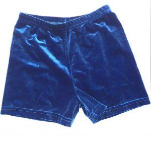 CLEARANCE Velvet Hot Shorts - Large Adult (14-16) - Navy Blue-0