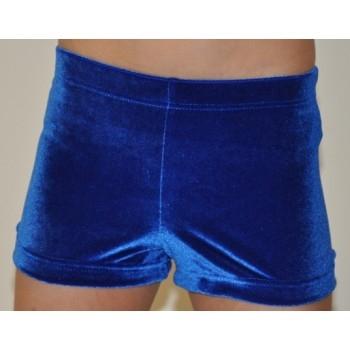 Velvet Training Shorts - Royal - M&G Brand - Size 6-0