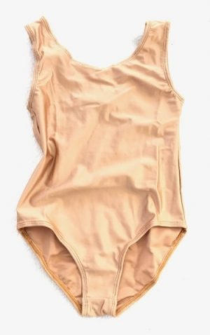 Lycra Leotard - Gold - Size 6-8 (M) years CLEARANCE SALE-0