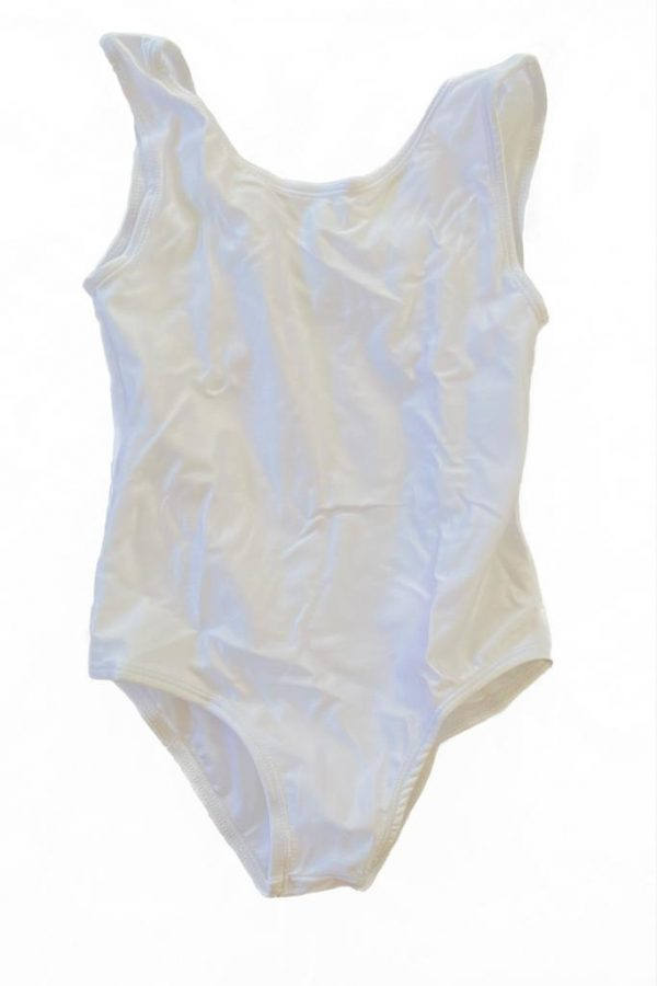 Lycra Leotard - White - Size 10-12 (XL) years CLEARANCE SALE-0