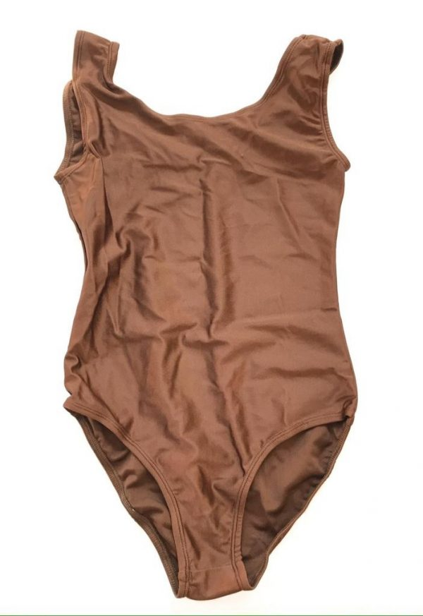 Lycra Leotard - Brown - Size 12-14 (XXL) years CLEARANCE SALE-0
