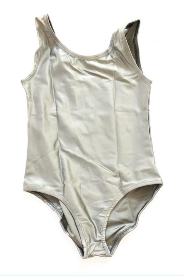Lycra Leotard - Silver - Size 4-6 (S) years CLEARANCE SALE-0
