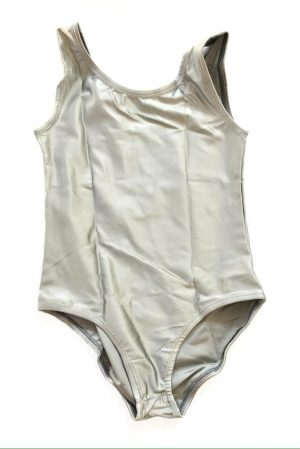 Lycra Leotard - Silver - Size 10-12 (XL) years CLEARANCE SALE-0