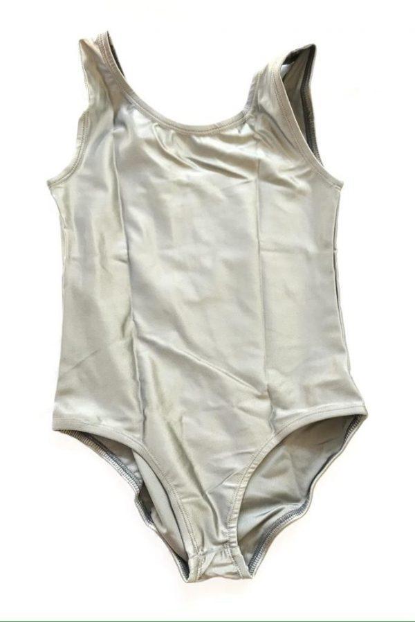 Lycra Leotard - Silver - Size 12-14 (XXL) years CLEARANCE SALE-0