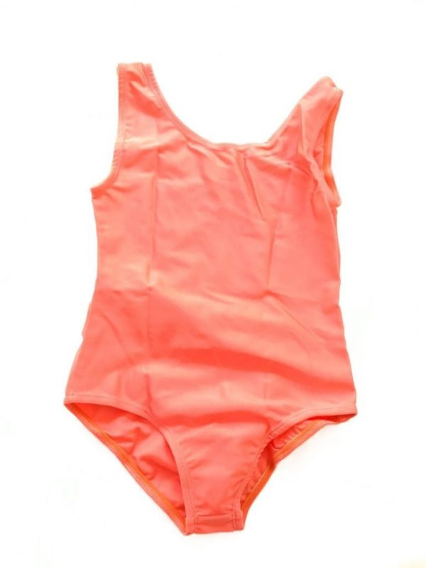 Lycra Leotard - Coral - Size 10-12 (XL) years CLEARANCE SALE-0