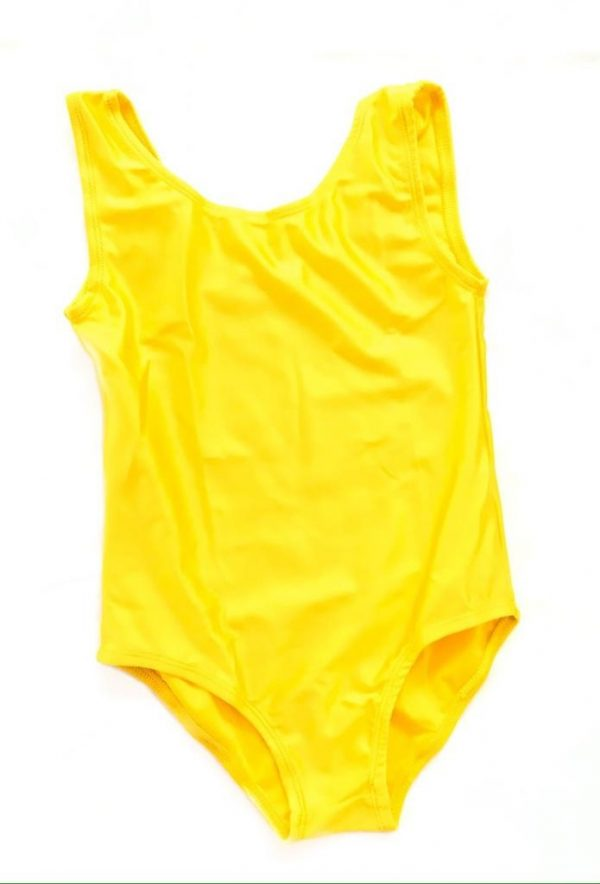 Lycra Leotard - Yellow - Size 8-10 (L) years CLEARANCE SALE-0