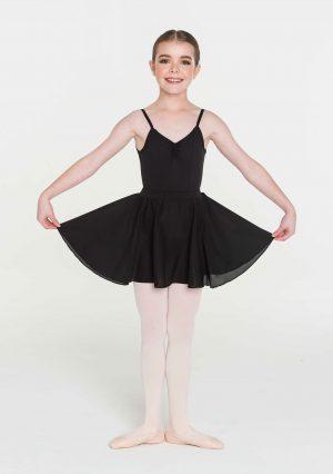 STUDIO RANGE Children's Tactel Full Circle Skirt - 10-12 years (XL) black or pink-0